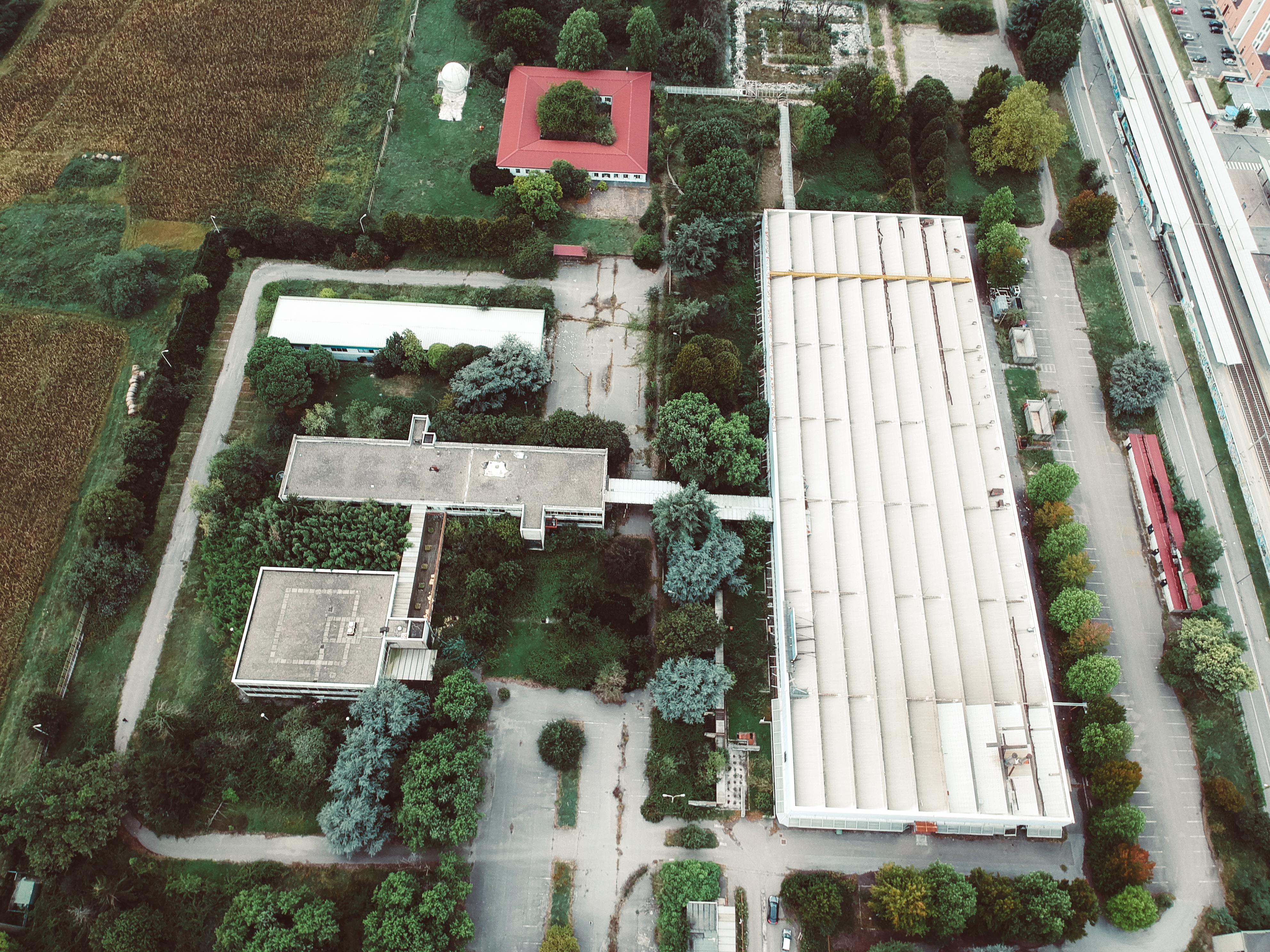 Vista aerea dell'area - SQM Real Estate - Area Pregnana Milanese ex Olivetti Bull Italia - Sviluppo riqualificazione immobile industriale