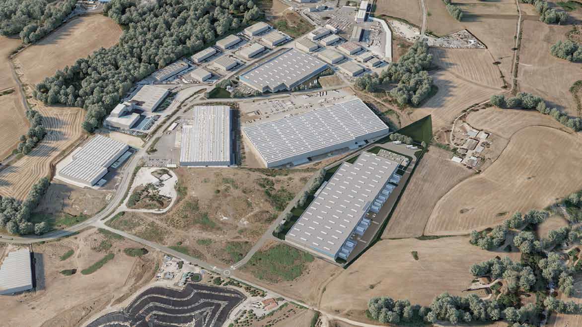 Vista d'insieme Logistic Park Colleferro - Capannoni logistici, magazzini, deposito industriale, su misura a Roma - SQM Real Estate