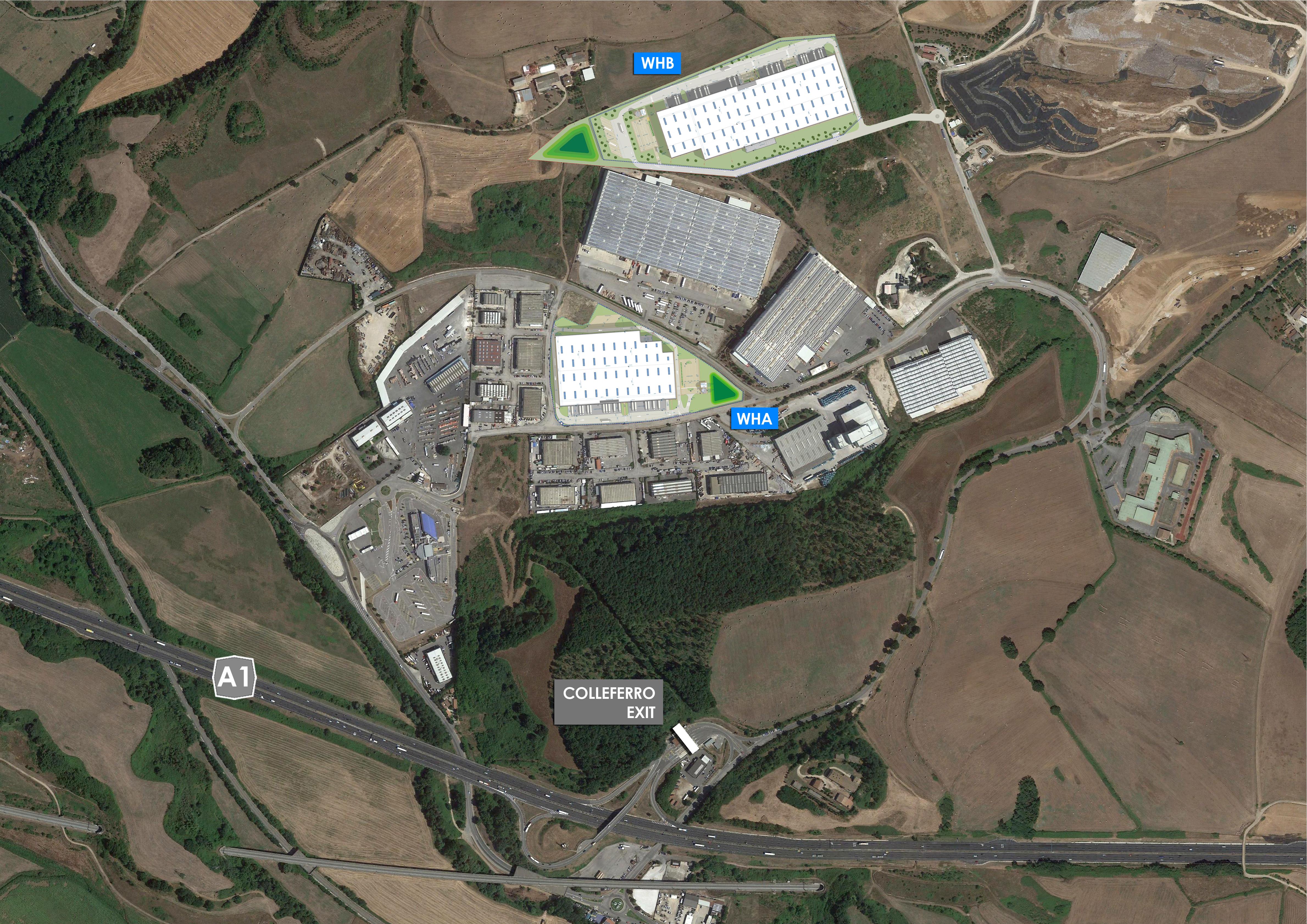 Inquadramento Colleferro - Capannoni logistici, magazzini, deposito industriale, su misura a Roma - SQM Real Estate